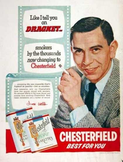 1954 Chesterfield Cigarettes