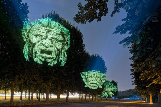 Gargoyle tree projections by Clement Briend