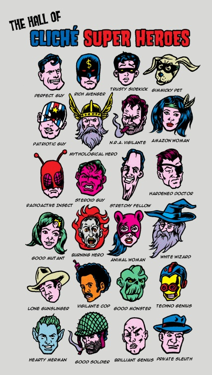 The Hall of Cliche Super Heroes