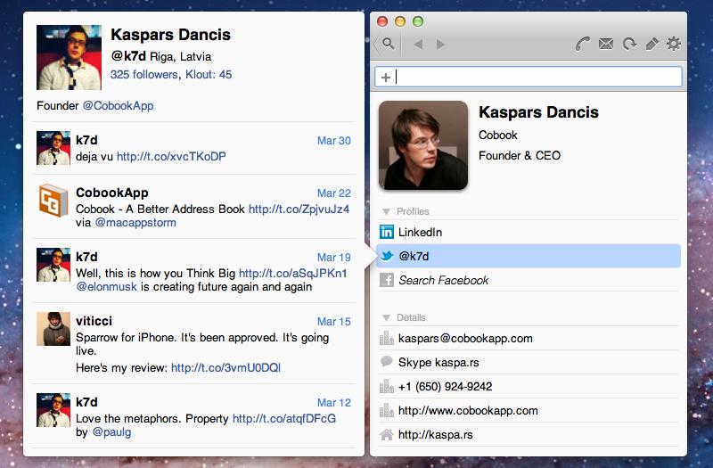 cobook a simple smart address book app for mac