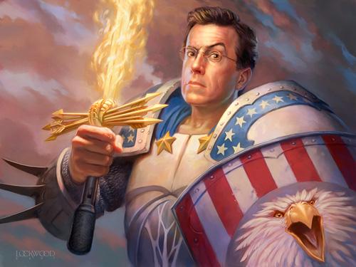 Stephen Colbert Portrait by Todd Lockwood
