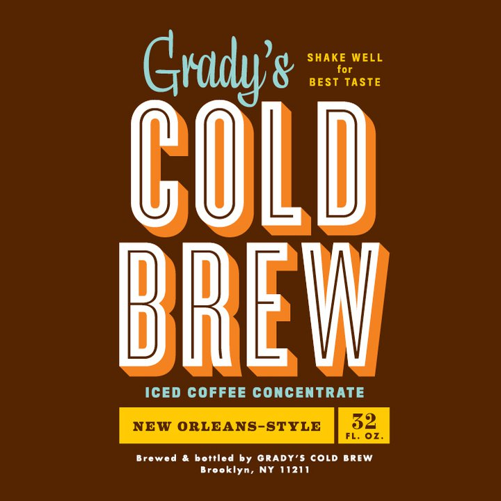 Grady's Cold Brew is a wonderful New Orleans style iced coffee ...
