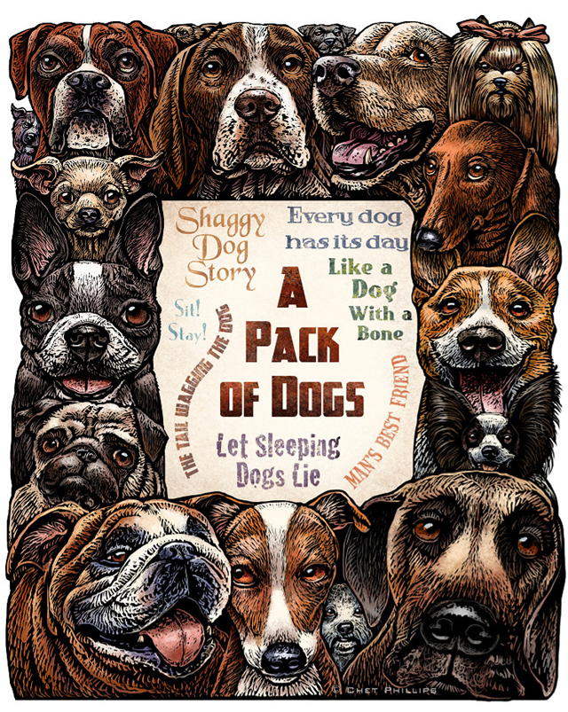 A Pack of Dogs by Chet Phillips