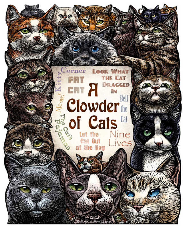 A Clowder of Cats by Chet Phillips
