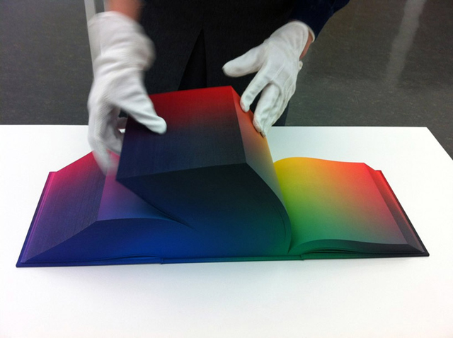 RGB Colorspace Atlas, A Cubed Book Depicting Every Color