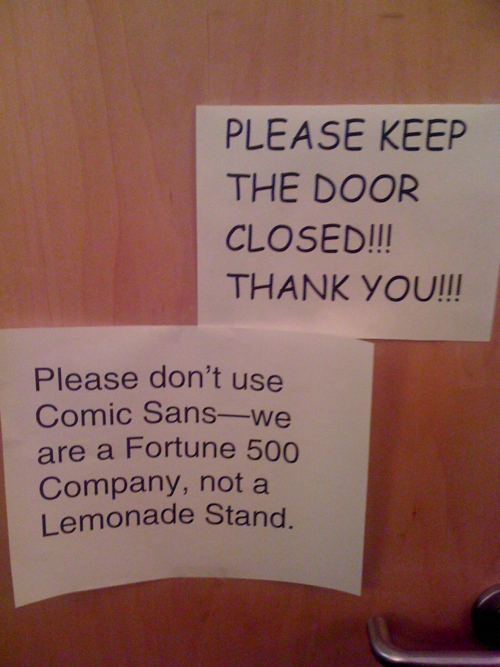 Say No to Comic Sans