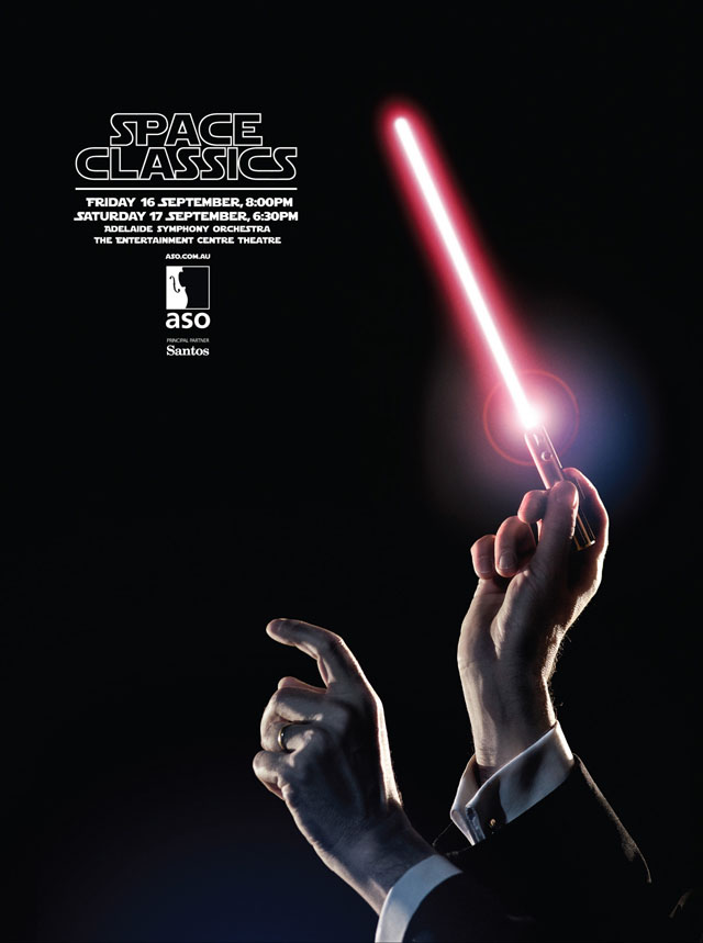 Space Classics ads for Adelaide Symphony Orchestra