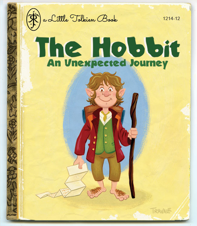 Artist Reimagines The Hobbit as a Little Golden Book