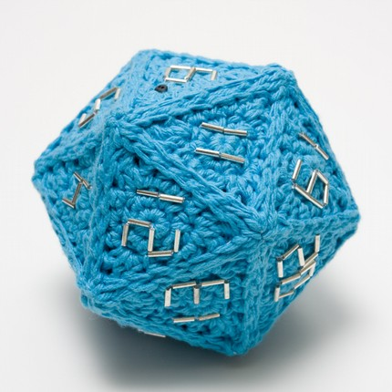 Crochet 20-Sided Die (d20)