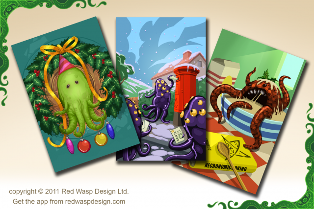 Cthulhu Christmas Calendar by Red Wasp Design