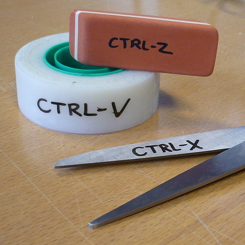 Ctrl-Z, Ctrl-V, Ctrl -X