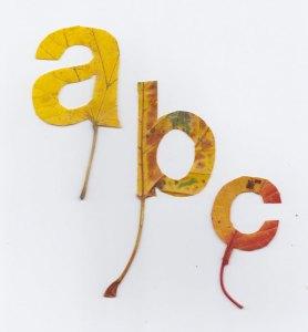 Cut leaf letters by Twan van Keulen