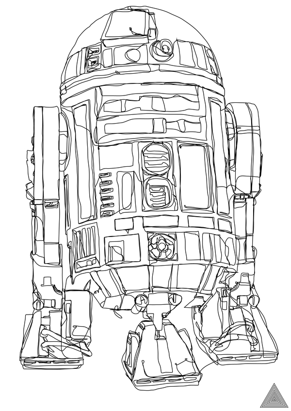 Continuous Line Drawing Famous Artists : Star wars continuous line drawings