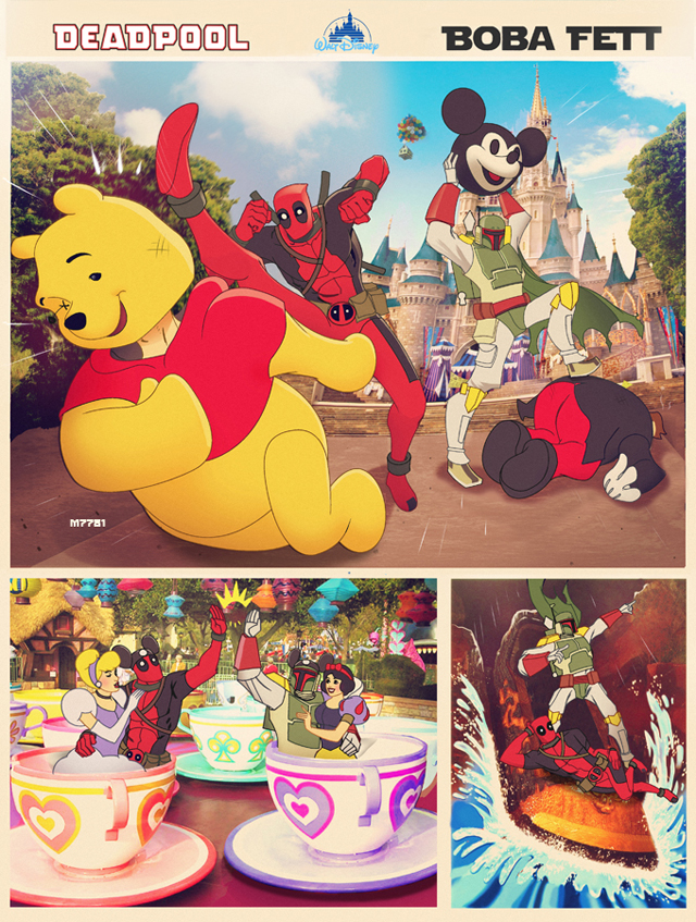 Deadpool n' Boba Fett vs Disney World by Marco D'Alfonso