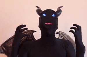 Electronic demon costume by Phillip Burgess