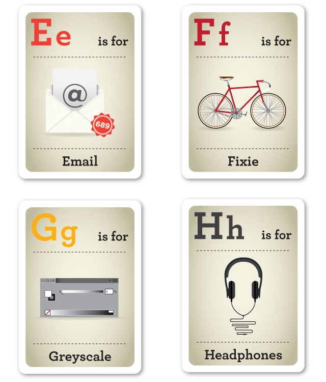 Design Nerd Flash Cards E-H by Emma Cook