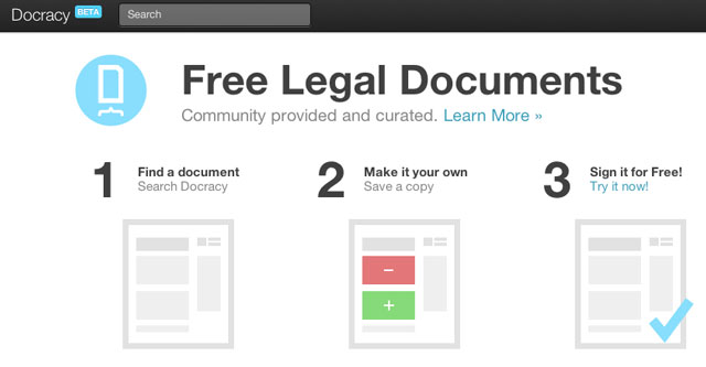 Docracy open source legal documents for Free legal documents templates