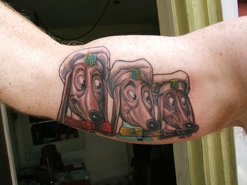 "Doggie Diner Tattoo. Yesterday my good friend and co-conspirator ""Caution"""