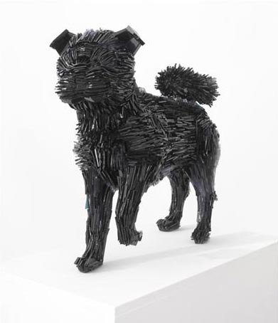 Glass shard animal sculptures by Marta Klonowska