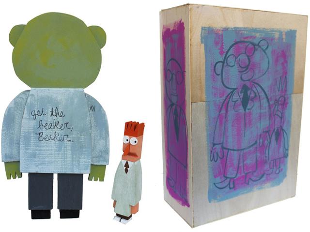 Dr. Bunson Honeydew wood idol by Amanda Visell
