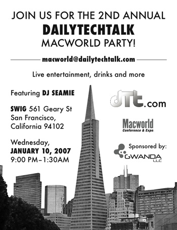 DailyTechTalk Macworld Party