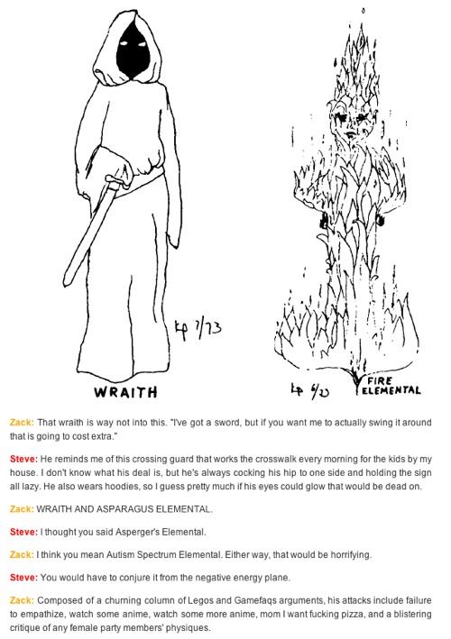 Wraith & Fire Elemental