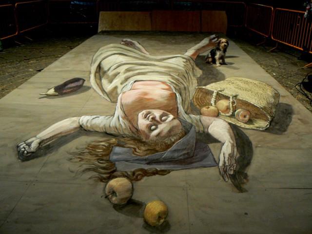3D Illusion Street Art by Eduardo Relero
