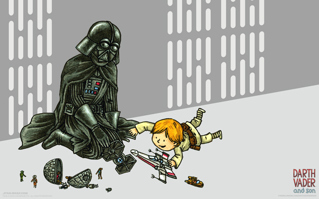 Darth Vader and Son Wallpaper by Jeffrey Brown