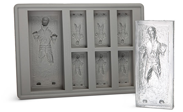Star Wars Han Solo in Carbonite Ice Cube Tray