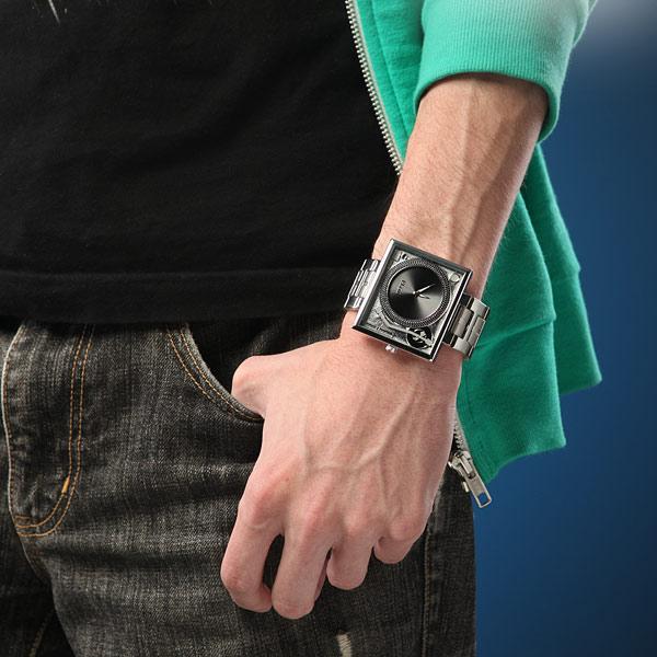 Turntable Metal Wristwatch