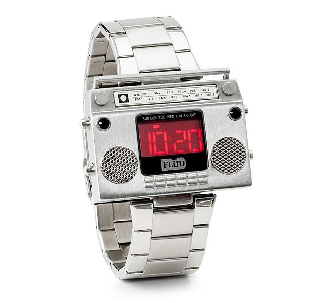 Boombox Metal Wristwatch at ThinkGeek