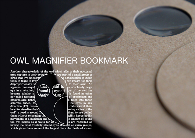 Owl Magnifier Bookmark - Eco DIY Collection by Eduardo Alessi