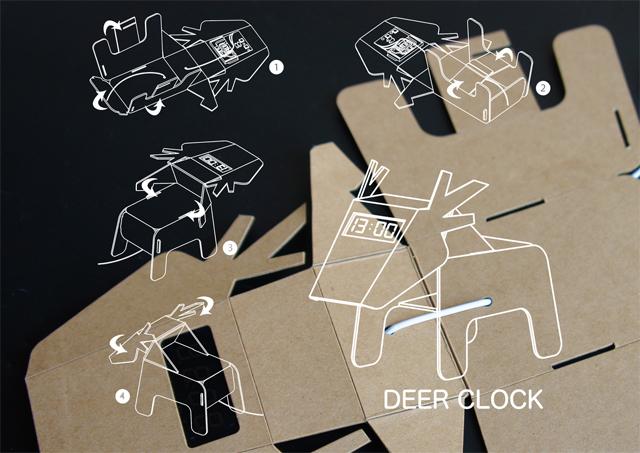 Deer Clock - Eco DIY Collection by Eduardo Alessi