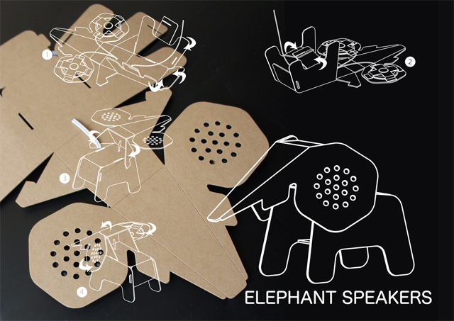 Elephant Speakers - Eco DIY Collection by Eduardo Alessi