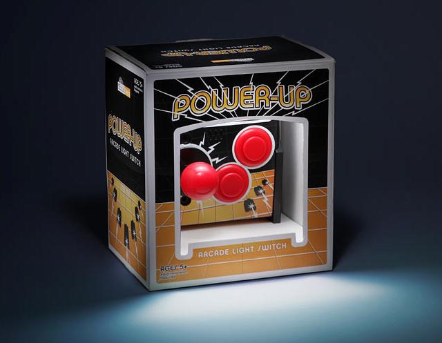 Power-Up Arcade Light Switch Plate at ThinkGeek