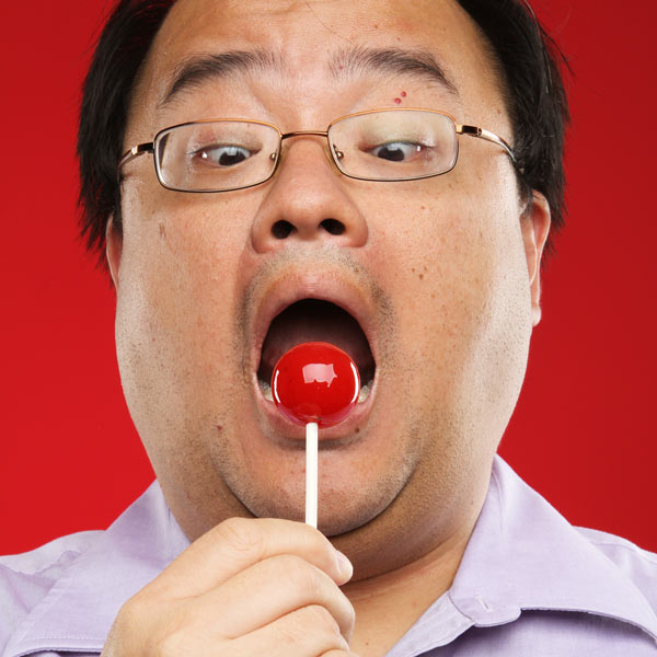 Eating a lollypop