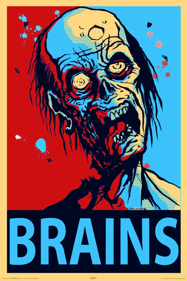 Zombie Brains Wall Poster at ThinkGeek