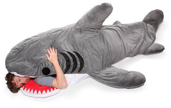 chumbuddy sleeping bag looks like a shark is eating you alive