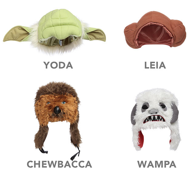 Star Wars Plush Character Hats at ThinkGeek