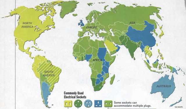 Map showing which type of electrical socket is used around the world electrical socket gumiabroncs Images