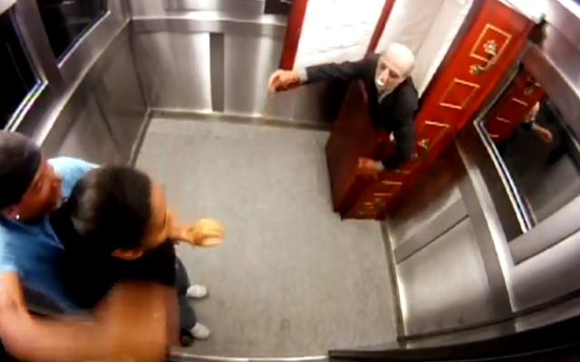 Dead Man in Coffin Causing Panic in Elevator (Prank)