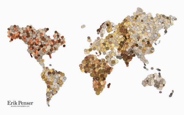 Coin World Map by Bedow
