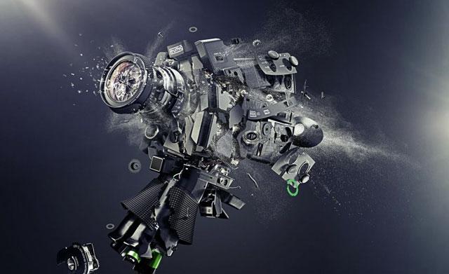 Exploding Cameras by Staudinger + Franke