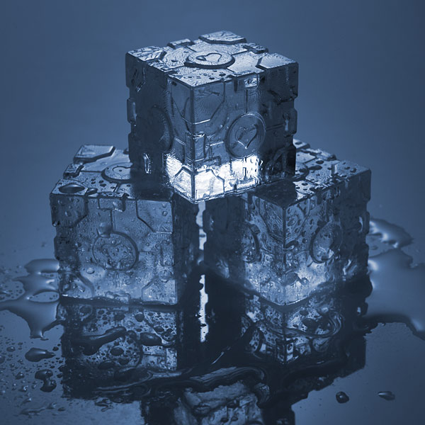 Portal 2 Companion Cube Ice Tray at ThinkGeek