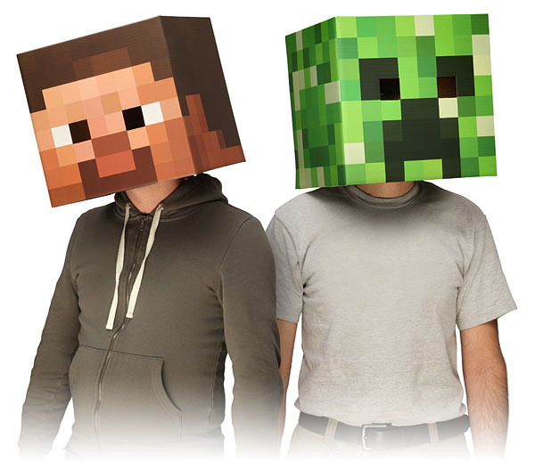 Minecraft Masks at ThinkGeek