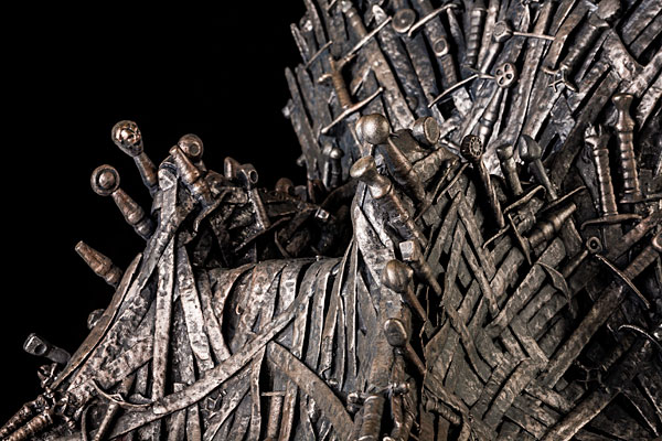 A 14 Inch Replica Of The Game Of Thrones Iron Throne