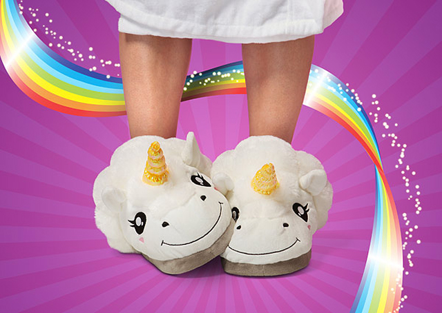 Plush Unicorn Slippers for Grown Ups
