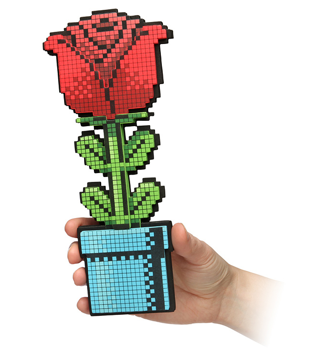 8-Bit Rose, A Pixelated Flower For Your Player 2 That Lasts Forever