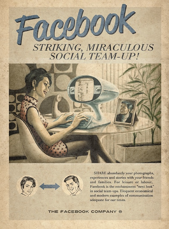 Retro Future Ads For Facebook Twitter Amp Youtube