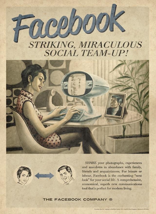 Facebook Vintage Ad